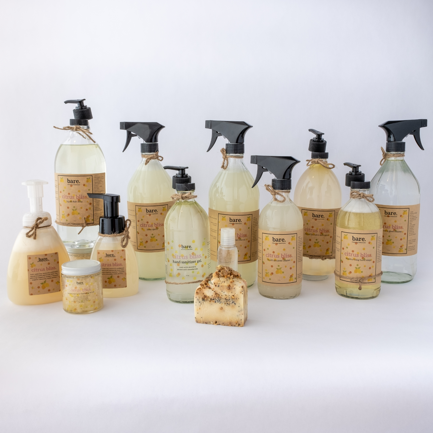 citrus bliss - full product line - clean with bare