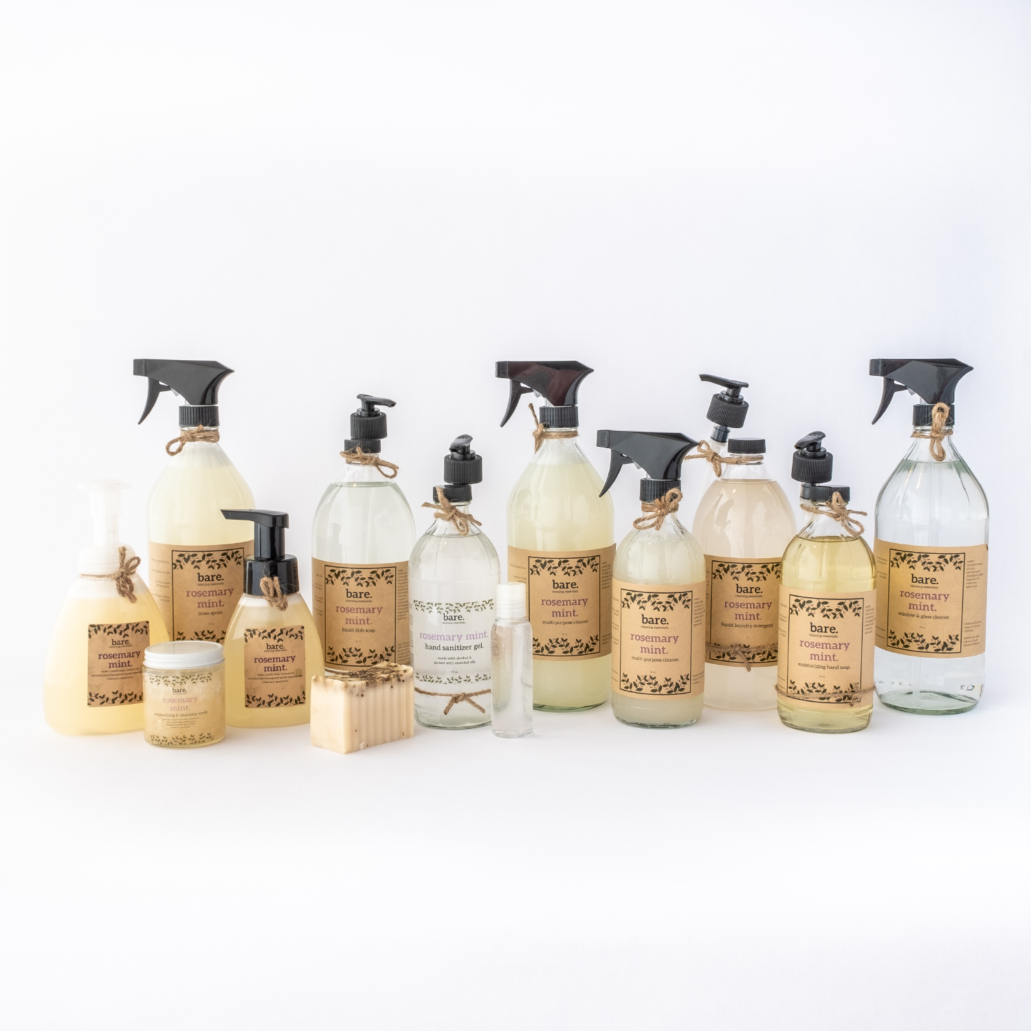 rosemary mint - full product line - clean with bare
