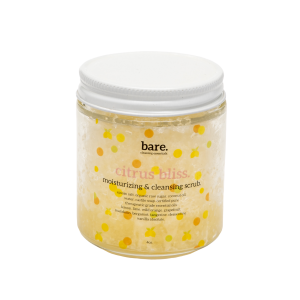citrus bliss - moisturizing salt scrub - 4oz - bare. cleaning essentials - clean with bare