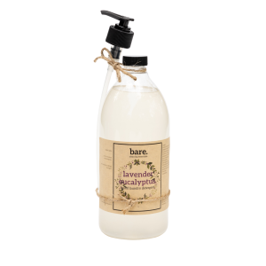 lavender eucalyptus - liquid laundry detergent - IL - bare. cleaning essentials - clean with bare