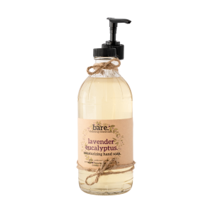 lavender eucalyptus - moisturizing hand soap - 16oz - bare. cleaning essentials - clean with bare