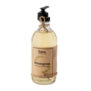lemongrass - moisturizing hand soap - 16oz - bare. cleaning essentials - clean with bare