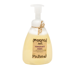 rosemary mint - foaming hand soap - 16 oz - bare. cleaning essentials - clean with bare