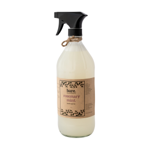 rosemary mint - linen spray - bare. cleaning essentials - clean with bare