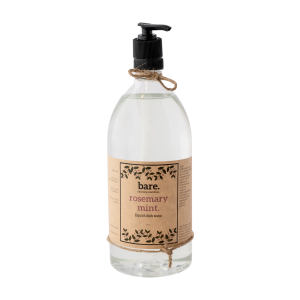 rosemary mint - liquid dish soap - bare. cleaning essentials - clean with bare