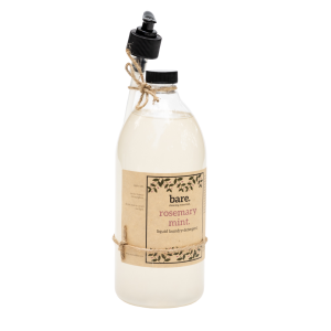 rosemary mint - liquid laundry detergent - bare. cleaning essentials - clean with bare