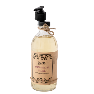 rosemary mint - moisturizing hand soap - bare. cleaning essentials - clean with bare