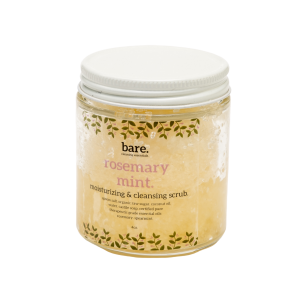 rosemary mint - moisturizing salt scrub - bare. cleaning essentials - clean with bare