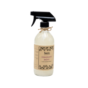 rosemary mint - mulit purpose cleaner - 16 oz - bare. cleaning essentials - clean with bare