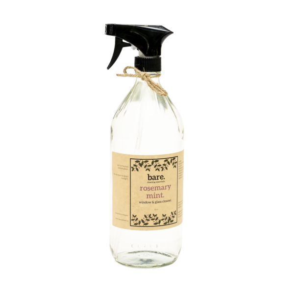 rosemary mint - window and glass cleaner - bare. cleaning essentials - clean with bare